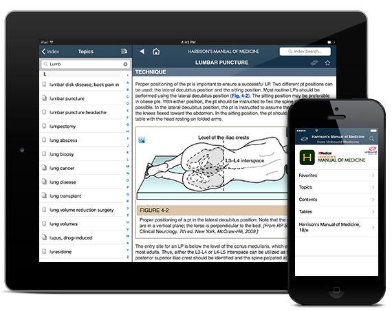 Harrison's Manual of Medicine - App + Web iOS iPhone iPad Android